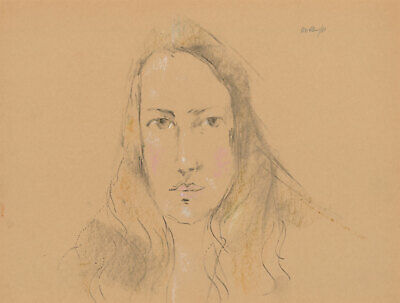 Peter Collins ARCA - Signed 1980 Crayon and Graphite, Portrait