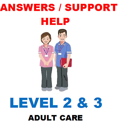 NVQ QCF Health and social care optional unit x 1 for level 2 & 3 ANSWERS & HELP