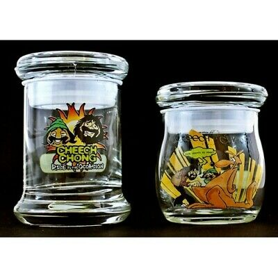 2 Cheech and chong collectible Glass Jars stash limited edition bud weed sealed