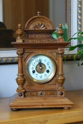 Antique German  Hac Mantle Clock   In Very Good Condition And Working Order