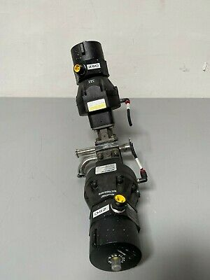 2 ITT Sherotec Stainless Steel Diaphragm Valves w/ Position Monitor