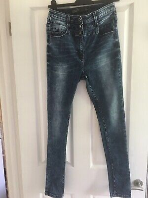 New NEXT Ladies Super High Waist Skinny Jeans Inky Blue 8 10 12 20 RP£42
