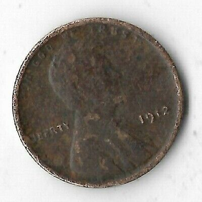 Rare Very Old Antique 1912 US Lincoln Wheat Penny Collection Coin Titanic Era
