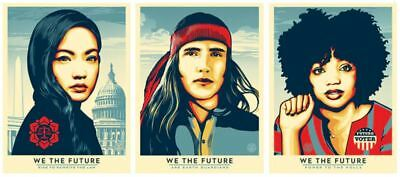 WE THE FUTURE Classroom Beyond Obey Giant Shepard Fairey Set of 3 Screen Prints
