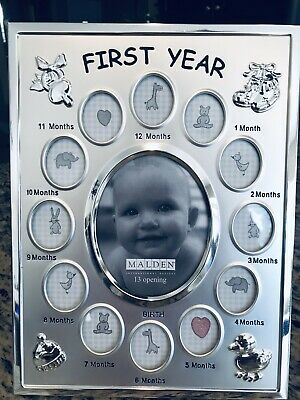 Baby's First Year Collage Frame 13 photo openings Malden Designs