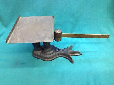 FAIRBANKS Antique Cast Iron and Bronze Postal Scale Crows Foot Excellent Cond.!!