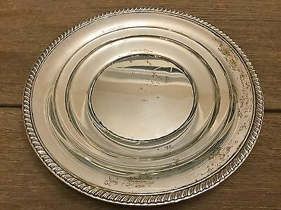 Sterling Silver .925 Antique Newport Plate Charger Marked 125293
