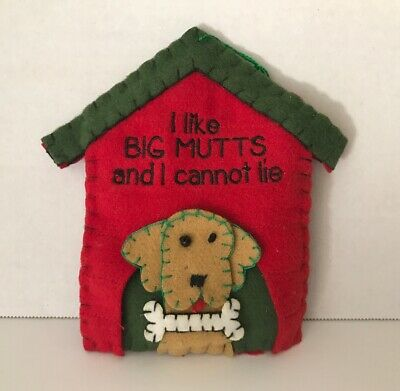 Mud Pie 'I like BIG MUTTS and I cannot lie' Christmas Tree Ornament