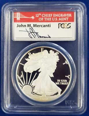 2012-S US 1oz Pf. Silver Eagle $1 PCGS PR70DCAM First Strike Coin Currency L5443