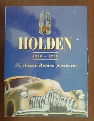 Holden 1948 to 1998 boxed set of 25 classic Holden postcards unused