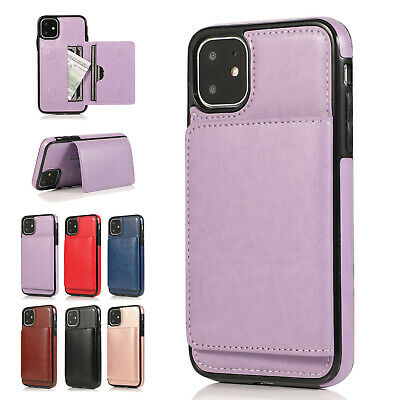 For iPhone 11/11 Pro/Pro Max Classic PU Leather Card Case Kickstand Cover Design