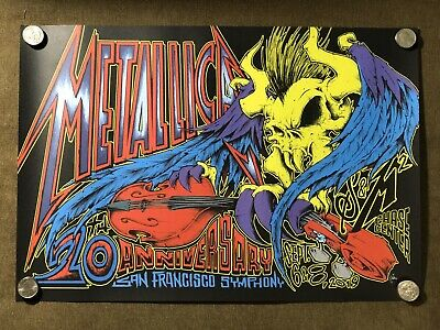 Metallica San Francisco S&M2 Poster Squindo Chase Center 2019 NO DAMAGES