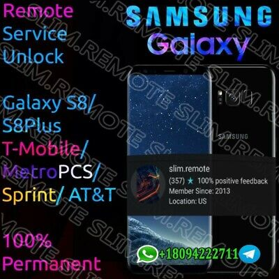 Unlock Remote Service Samsung Galaxy S8/S8 Plus