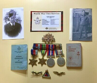 AUSTRALIAN WW2 Air Force Medals Badges, Rising sun,