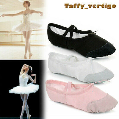 Ballet Dance Canvas Yoga Gymnastic Shoes Split Sole Adult's & Children's Sizes