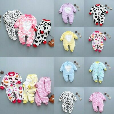 Toddler Infant Cartoon Print Jumpsuit Romper Baby Girls Boys Outfits Clothes