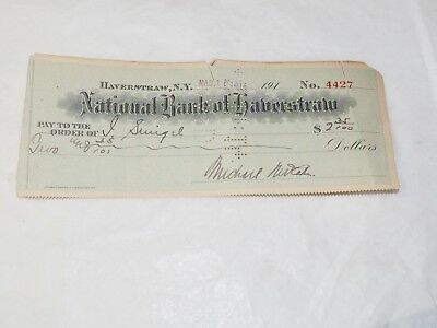 Nacional Banco de Haverstraw New York Original Banco Cuadros 1914