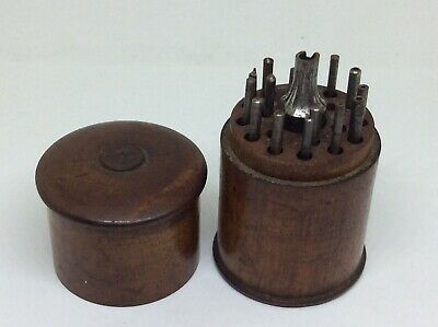 19th Century Treen Wood Cased Watch Makers Tools