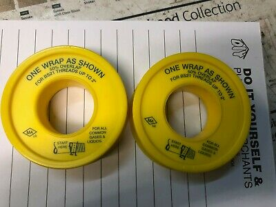 Gas PTFE Tape Non-Adhesive Thread /& Compression Joint Seal British Standard