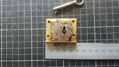 Antique Brass Cupboard-Cabinet drawer-Lock  49mm -1 Key  (650)