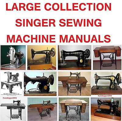 Huge Collection Singer Sewing Machines Service Manuals Parts Op Instructions Cd