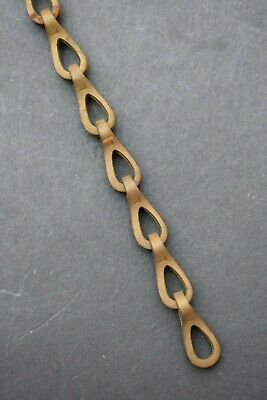 Old Brass Chain reclaimed antique victorian edwardian old brass chain link