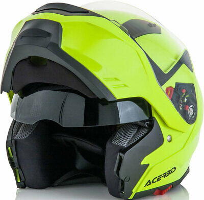 Acerbis G-348 Modular Flou Yell Helmet Road Motorcycle Flip Up Full Face Touring