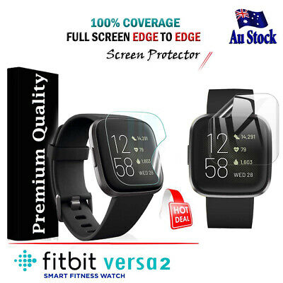 For Fitbit Versa 2 Ultra Clear Full Coverage Screen Protector Film Guard