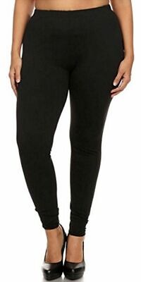 New Mix Womens Plus Size Butter Soft High Waist Solid Black Leggings Size OS