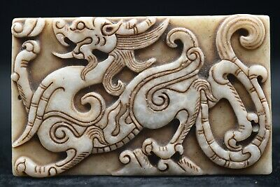 Old Chinese Neolithic HongShan jade Hand carved Amulet Pendant D767