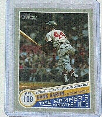 2019 Topps Heritage High Hank Aaron - The Hammer's Greatest Hits #THGH-2