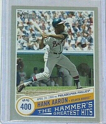 2019 Topps Heritage High Hank Aaron - The Hammer's Greatest Hits #THGH-7