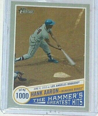 2019 Topps Heritage High Hank Aaron - The Hammer's Greatest Hits #THGH-13