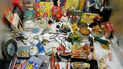 Junk Drawer Lot Knives Belt Buckles Toys Jewelry Key Chains Video Games Stocking