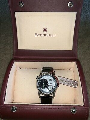 Bernoulli Automatic Mens Watch Genuine Leather Band $2595 Msrp