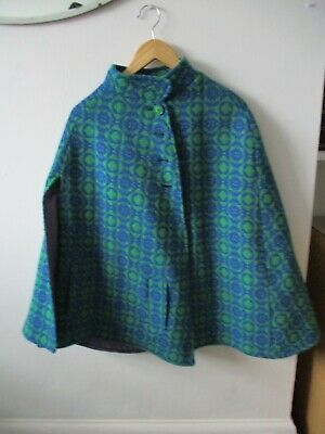 welsh wool cape vintage vibrant colours