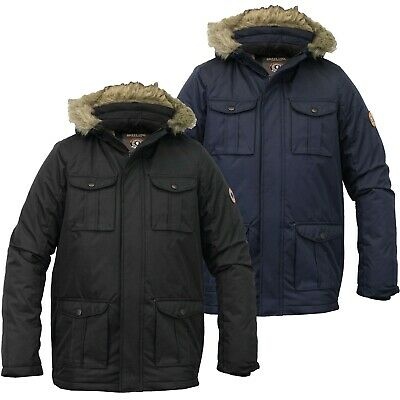 Brave Soul Childrens Boys Padded Waterproof Winter Coat School Parka Jacket