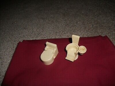 vintage fisher price little people  Dentist Chairs And Bathroom toilet