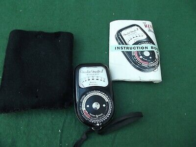 Weston Master Ii Cine Exposure Meter With Instruction Booklet
