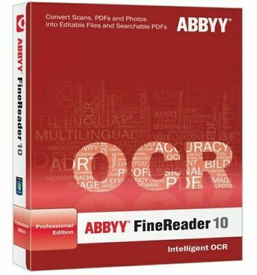 Abbyy FineReader 10 Portable PDF converter/SCAN TO DOC./professional edition