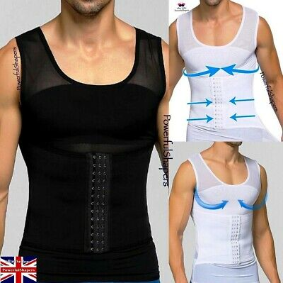 Men/'s Best Gynecomastia Stomach Trimmer Vest for Man Boobs Moobs Gyno Tops Tank