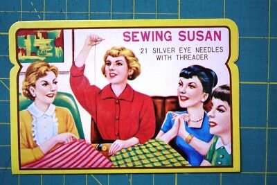 NEW Needle Card Needles Advertising Sewing Sewing Susan NEW