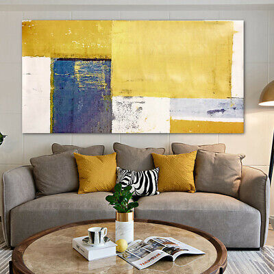 Abstract Yellow Canvas Art Print Oil Painting Picture Wall Hanging Home Decor ❤