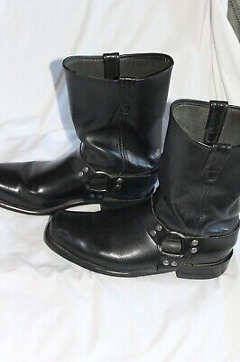 Double-H  Black Harness Motorcycle Boots 4008 Mens Sz 12 D USA