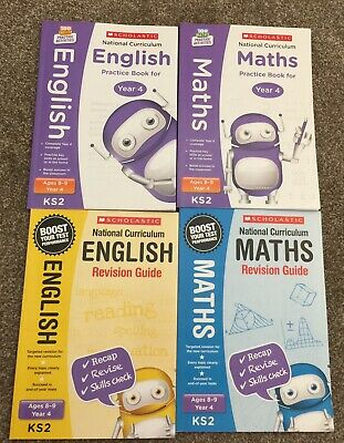SCHOLASTIC year 4 Practice Books And Revision Guide For English And maths