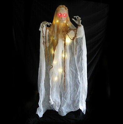 Life-size Creepy Ghost Bride LED Lighted Halloween Party Hanging Decoration Prop