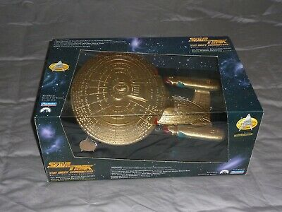 STAR TREK THE NEXT GENERATION 17th Anniversary Starship Enterprise Gold Edition