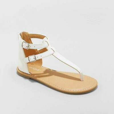 NEW Girls' Jackie Thong Sandals WHITE-Cat & Jack Size 2