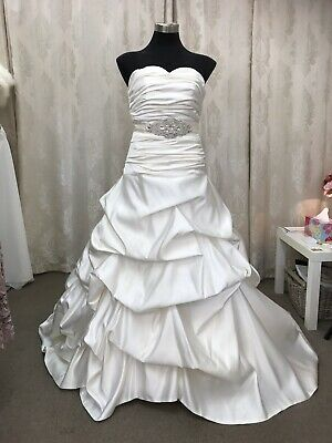 Size 10 Ivory Satin Bridal Gown With Sash