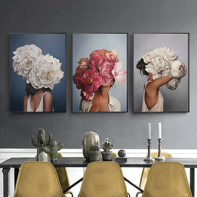 Nordic Abstract Girl Art Canvas Paintings Wall Print Picture Posters Home Decor